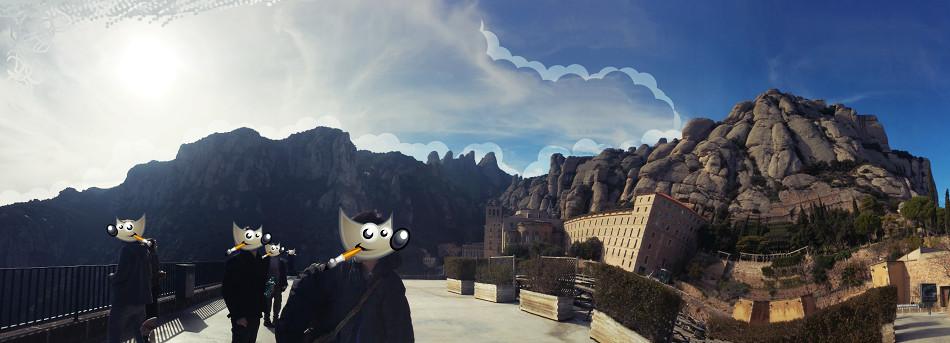 GIMPers at Montserrat, España