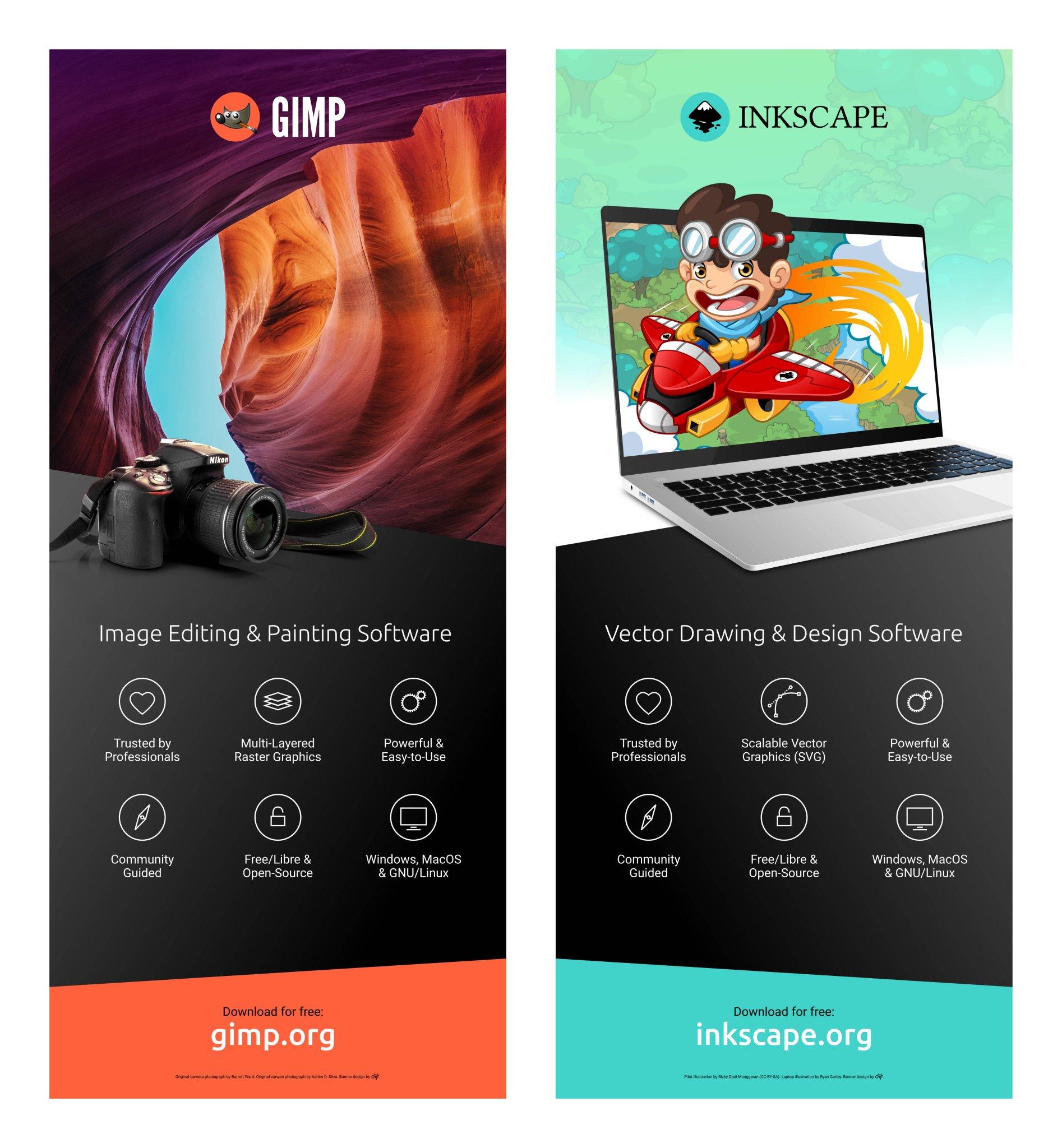 GIMP + Inkscape Banners