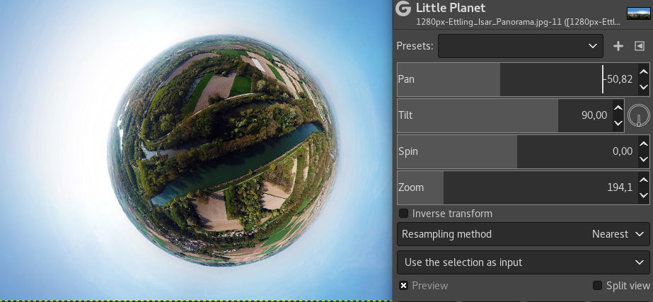 Filtre Little Planet