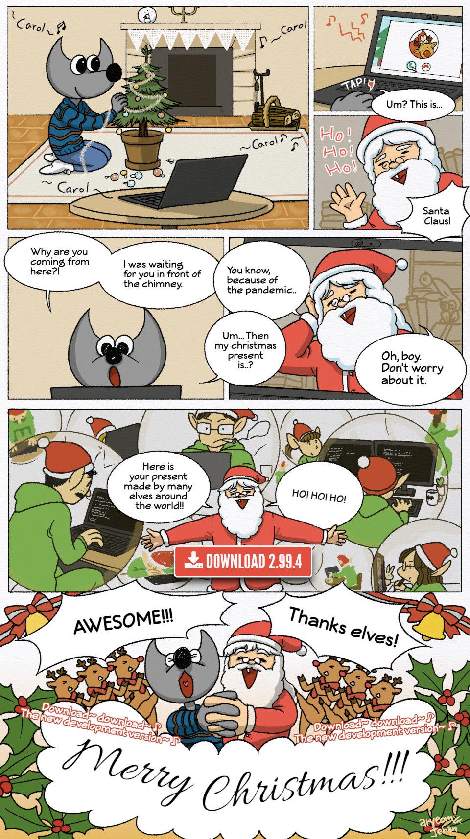 GIMP 2.99.4 present for Christmas! by Aryeom, CC by-sa