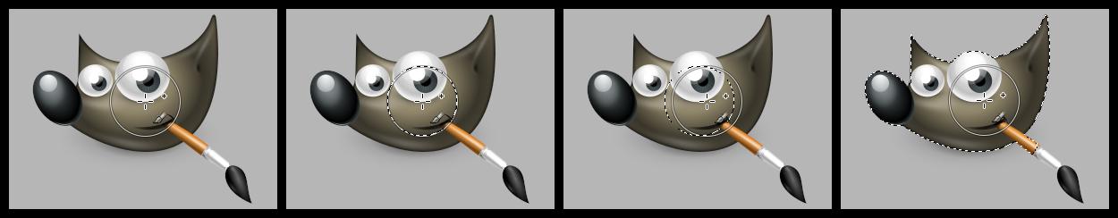 GIMP 2.99.4: Paint Select tool
