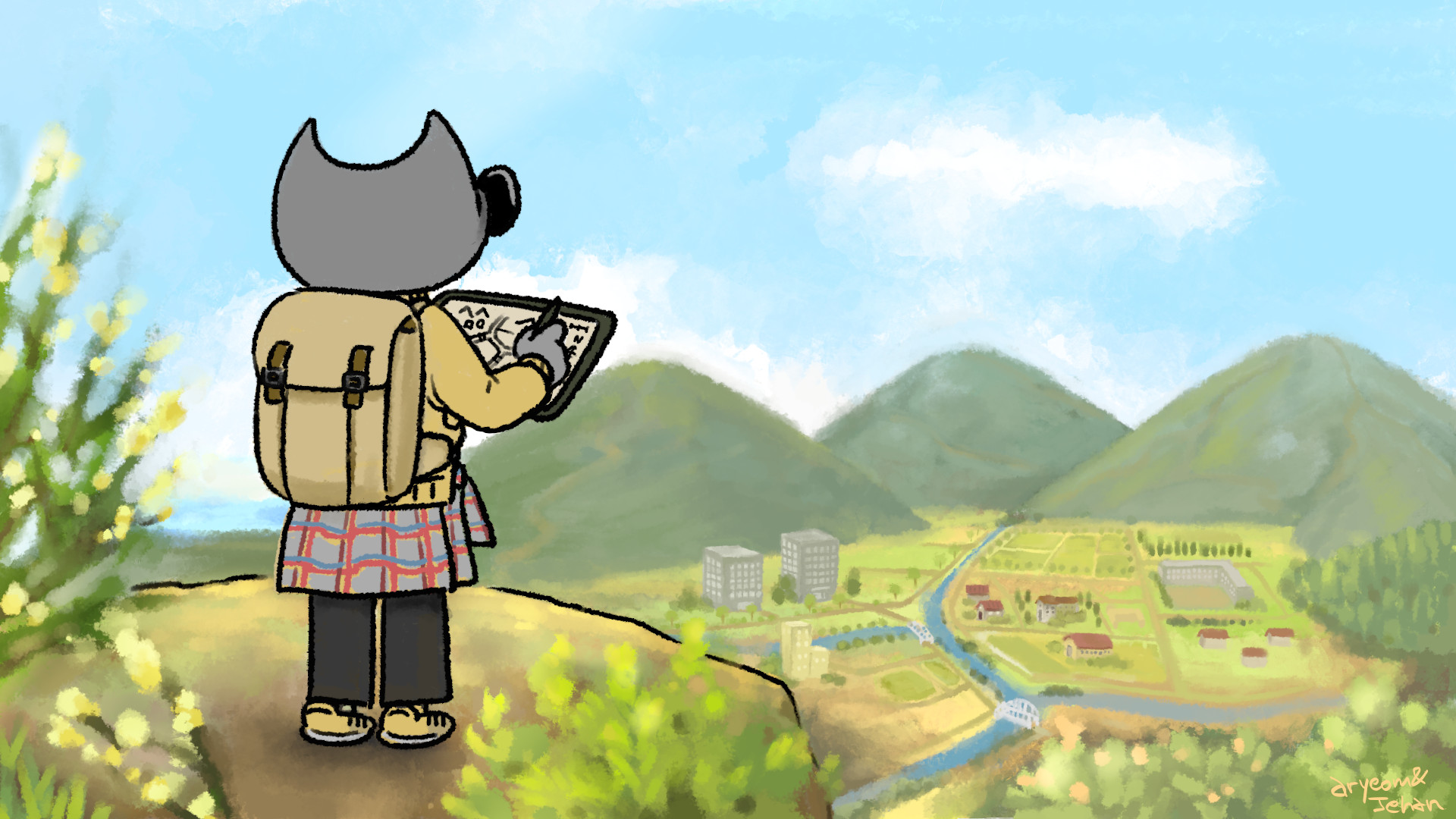 Wilber the geographer - Wilber and co. comics strip