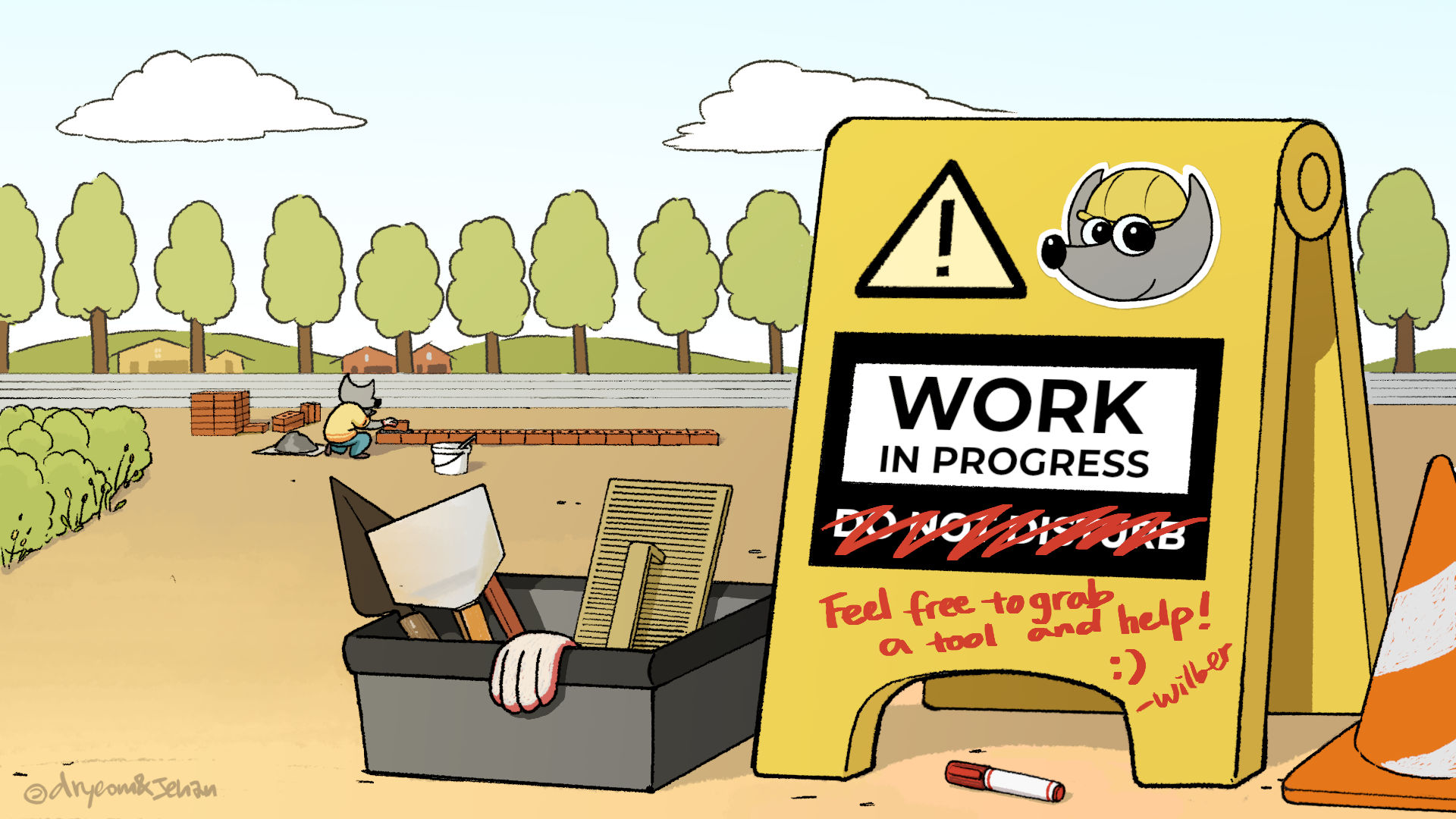 Work in Progress - Wilber and co. comics strip by Aryeom