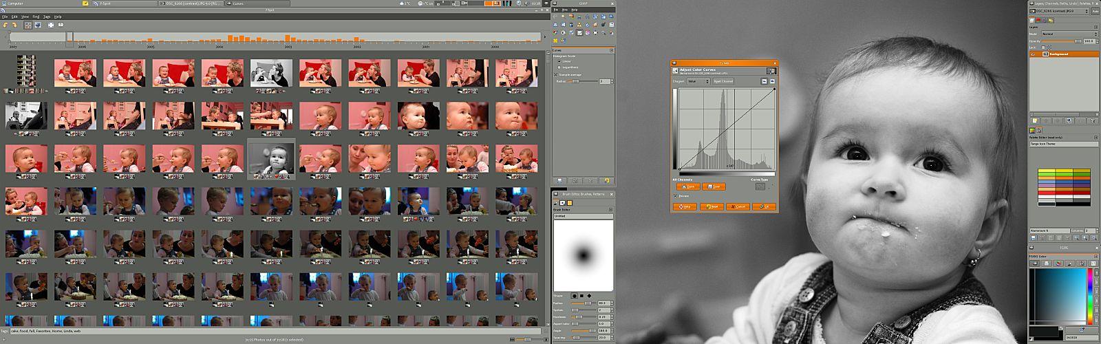 captura de pantalla de gimp 2.8