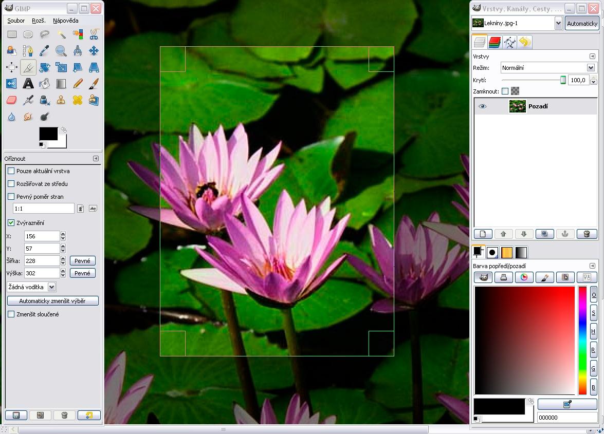 Ventana de GIMP bajo el Sistema Oerativo Windows