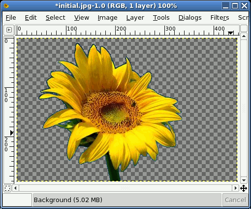 gimp changing background color 2
