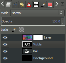 GIMP layer palette copy