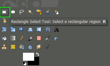 GIMP rectangle select tool crop image