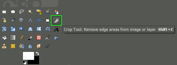GIMP Crop Tool Palette