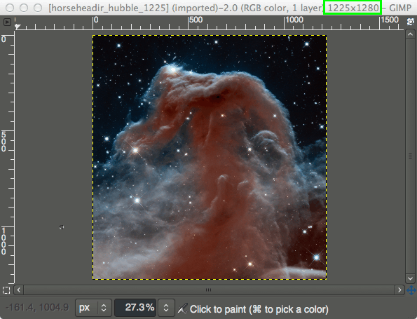GIMP Scale Image Tutorial Nebula