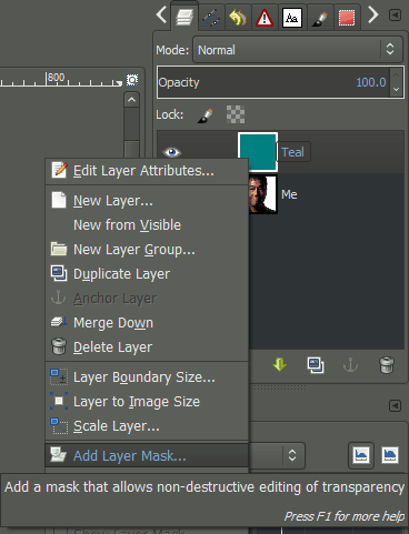 gimp how to edit text layer